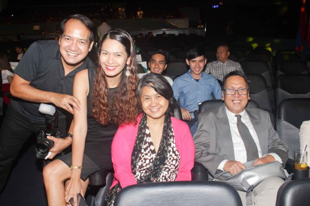 from right: Interaksyon's Edwin Sallan, Claire Agbayani, PDI's Marinel Cruz and Photographer Allan Sancon. The World Premieres Film Festival Phil features 70 films from over 35 countries along with the Filipino New Cinema competition. It is currently the most prestigious international film fest in the Philippines. Photo by Jude Bautista
