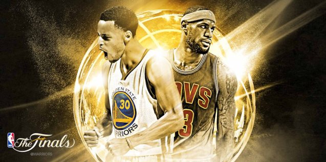 left: Current 2015 MVP Steph Curry faces 4-time MVP winner LeBron James in the Finals