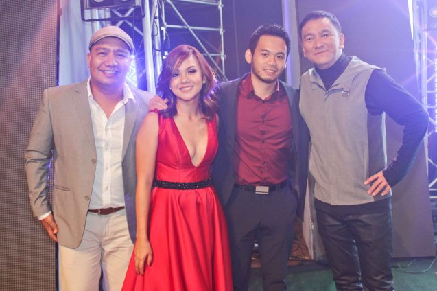 2015 Finalists from left: Paul Armesin (TANGING PAG-ASA KO), Lara Maigue (NASAAN), cellist Giancarlo Gonzales and Soc Villanueva (KILIG). The PhilPOP 2015 Finals Night was held at the MERALCO THEATER last July 25, 2015. Photo by Jude Bautista