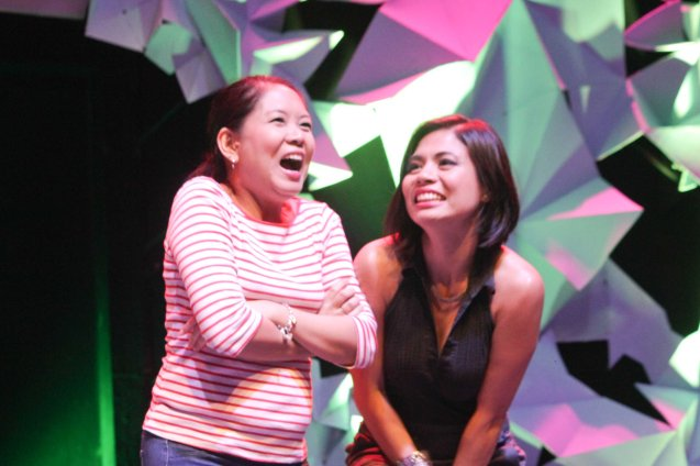 from left: Monica Cruz and Missy Maramara of SPIT. The 3rd International Manila Improv Festival runs from July 8-12, 2015 at the PETA Theater Center. Photo by Jude Bautista.