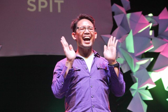 Maliksi Zaragosa of SPIT. The 3rd International Manila Improv Festival runs from July 8-12, 2015 at the PETA Theater Center. Photo by Jude Bautista.