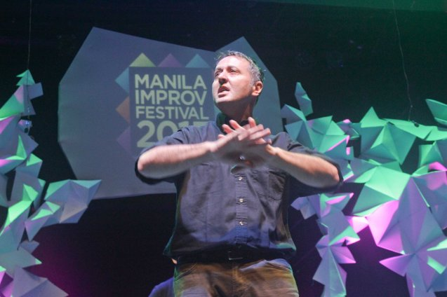 John Maloney of TAICHUNG IMPROV. The 3rd International Manila Improv Festival runs from July 8-12, 2015 at the PETA Theater Center. Photo by Jude Bautista.