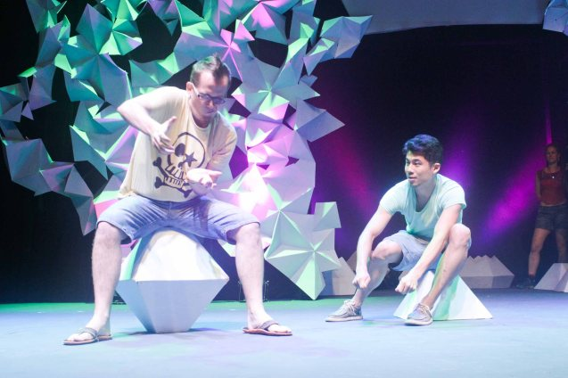 from left: Dave Cooper and Jay Wang of THE BEIJING COLLECTIVE. The 3rd International Manila Improv Festival runs from July 8-12, 2015 at the PETA Theater Center. Photo by Jude Bautista.