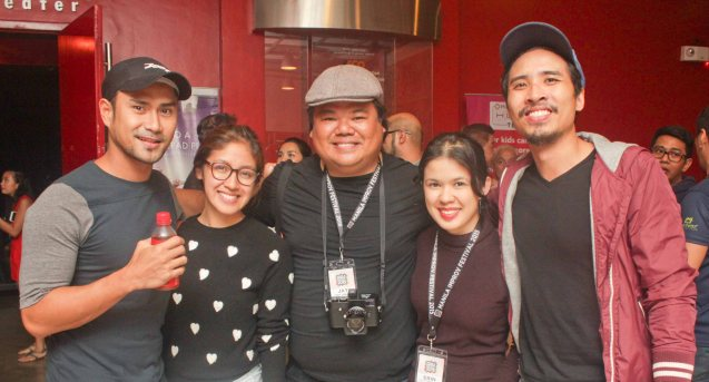 Gawad Buhay Awardees from left: Myke Salomon (Outstanding Sound Design), Gabriella Pangilinan, Jay Ignacio of SPIT, Erin Locsin of One and a Half Men and Pepe Herrera (Outstanding Male Featured Performance in a Musical). Both Myke & Pepe earned their Gawad Buhay awards for RAK F AEGIS still running at the PETA Theater Center. The 3rd International Manila Improv Festival runs from July 8-12, 2015 at the PETA Theater Center. Photo by Jude Bautista.