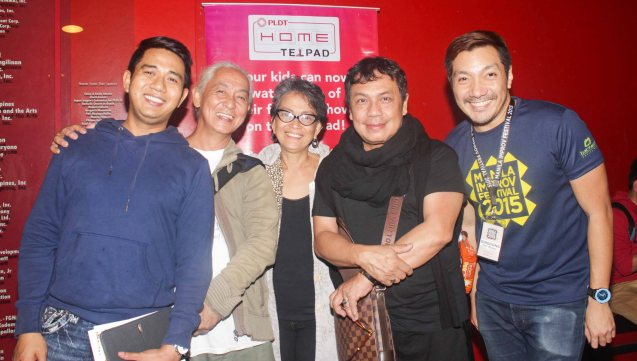 from left: Rodel Mercado, Ronnie Martinez, Ann Alix, Dr. Anton Juan and Dingdong Rosales of SPIT. The 3rd International Manila Improv Festival runs from July 8-12, 2015 at the PETA Theater Center. Photo by Jude Bautista.
