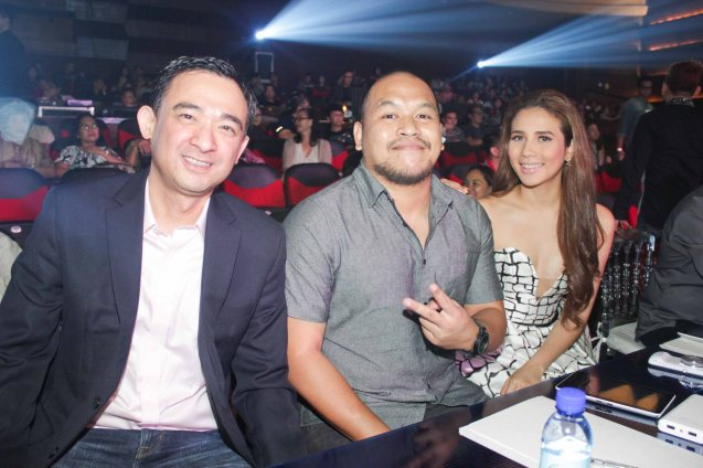 Panel of judges from left: Maynilad CFO Randolph Estrellado, Quest & Karylle. The PhilPOP 2015 Finals Night was held at the MERALCO THEATER last July 25, 2015. Photo by Jude Bautista