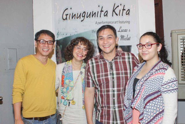 Buencaminos from right: Julia, Nonie, Shamaine and Mgr Ricky Gallardo. GINUGUNITA KITA was a concert last May 20, 2015 where composer Jesse Lucas set the poetry of Maningning Miclat to music. Photo by Jude Bautista