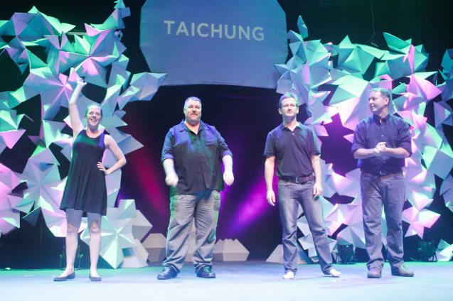 TAICHUNG IMPROV from left: Amanda Bishop, Josh Myers, John Maloney and Dennis Dziedzic. The 3rd International Manila Improv Festival runs from July 8-12, 2015 at the PETA Theater Center. Photo by Jude Bautista.