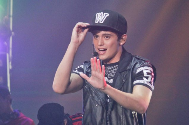 James Reid & rapper Pio (not in photo) perform MUSIKAW by MC Magno. The PhilPOP 2015 Finals Night was held at the MERALCO THEATER last July 25, 2015. Photo by Jude Bautista