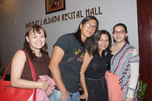 from right: Julia Buencamino, Angeli Kanapi, Rome and Jing Jorge. GINUGUNITA KITA was a concert last May 20, 2015 where composer Jesse Lucas set the poetry of Maningning Miclat to music. Photo by Jude Bautista