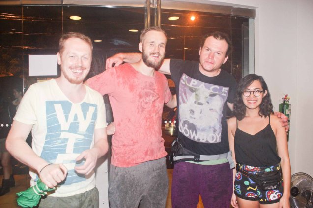 The PIP show team from left: Antoni Syrek-Dabrowski, Pawel Najgebauer, Piotr Sikora and Helen Li. They hail from Warsaw, Poland. The 3rd International Manila Improv Festival runs from July 8-12, 2015 at the PETA Theater Center. Photo by Jude Bautista.