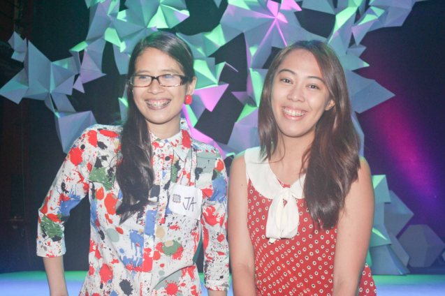 from left: Bizworld reporter Jasmine Cruz and cousin Annika Dadiva. The 3rd International Manila Improv Festival runs from July 8-12, 2015 at the PETA Theater Center. Photo by Jude Bautista.