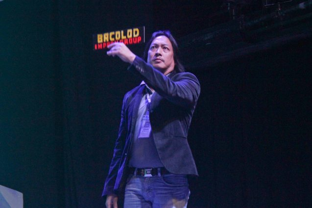 John Gilbert Arceo of Bacolod Improv; The 3rd International Manila Improv Festival runs from July 8-12, 2015 at the PETA Theater Center. Photo by Jude Bautista.