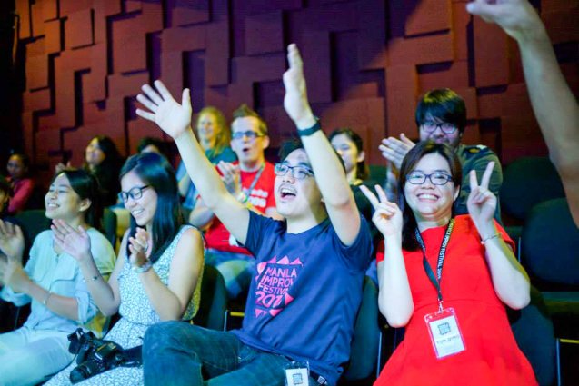 The Improv Company front row from left: Annie Low, Hazel Ho, Kim Tan, Yun Qing. Photo by filmmaker and SPIT member Jay Ignacio from his fb page: https://www.facebook.com/jay.ignacio
