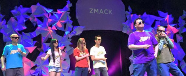 Zmack performs at PETA. Photo from official Zmack fb page https://www.facebook.com/zmackcomedy