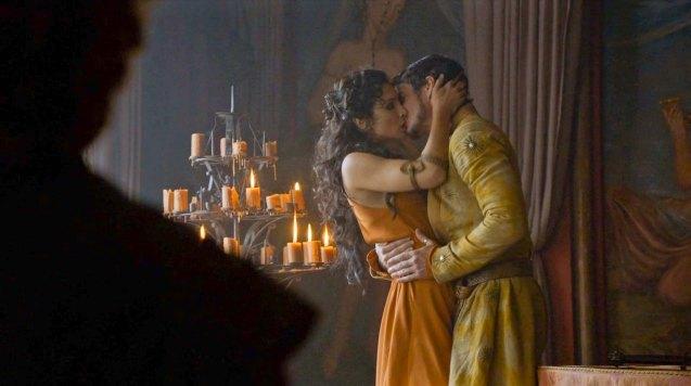 Prince Oberyn (Pedro Pascal) & Ellaria Sands (Indira Varma)