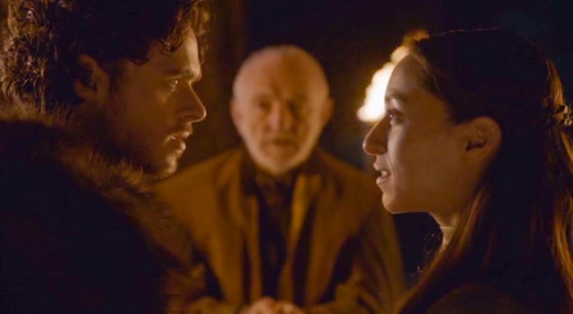 King of the North Robb Stark (Richard Madden) fell in love with Talisa Maegyr (Oona Chaplin)