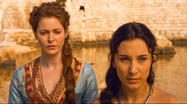 from left: Ros (Esmé Bianco) & Shae (Sebil Kekilli)