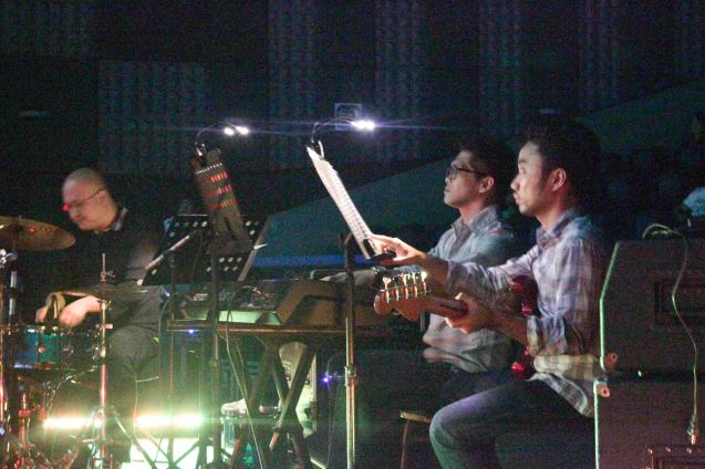 The Ding dong Fiel Trio provided the music for Spain's DON JUAN TENORIO. Watch Silent films for free w top musicians providing live soundtrack on the 9th Silent film Festival at Shang Cineplex, Shang Rila Plaza from August 27-30, 2015. Photo by Jude Bautista