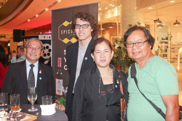 from right: Abe Pagtama, FDCP's Wilma Isleta, Quintin Cu Unjieng and Teddy Granados. Watch Silent films for free w top musicians providing live soundtrack on the 9th Silent film Festival at Shang Cineplex, Shang Rila Plaza from August 27-30, 2015. Photo by Jude Bautista