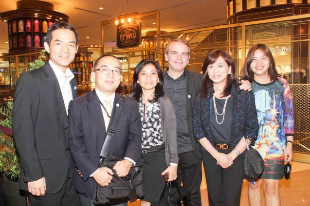 from left: Japan Foundation dir (Outgoing) Shuji Takatori, (incoming) Hiroaki Uesugi, Clarisse Lukban, Inst Cervantes Cuktural Affairs Head Jose Fons Guardiola, Shang Plaza Mktg Div Head Marline Concio Dualan and Shang Plaza Mktg Officer Mimi Tecson. Watch Silent films for free w top musicians providing live soundtrack on the 9th Silent film Festival at Shang Cineplex, Shang Rila Plaza from August 27-30, 2015. Photo by Jude Bautista