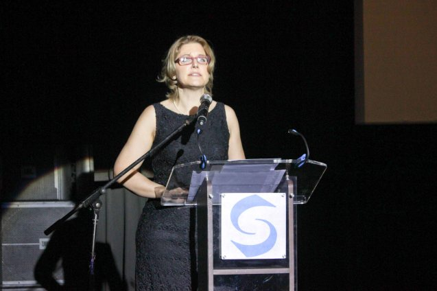 Austrian Chargée d'Affaires Gabriele Zobl-Kratschmann. Watch Silent films for free w top musicians providing live soundtrack on the 9th Silent film Festival at Shang Cineplex, Shang Rila Plaza from August 27-30, 2015. Photo by Jude Bautista