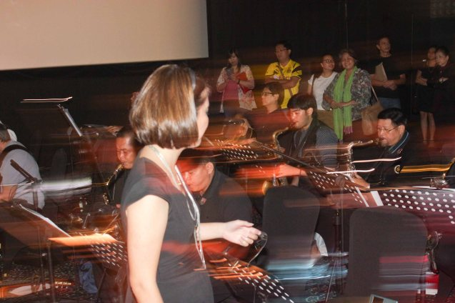 The Executives Band provided music for ORLAC'S HANDE. Watch Silent films for free w top musicians providing live soundtrack on the 9th Silent film Festival at Shang Cineplex, Shang Rila Plaza from August 27-30, 2015. Photo by Jude Bautista