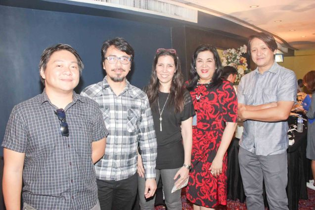 from left: Alvin Rodriguez, Buddy Zabala, PIA Proj Coordinator Cristina Moricca, Music Mgr Liza Nakpil & Jun Boy Leonor. Watch Silent films for free w top musicians providing live soundtrack on the 9th Silent film Festival at Shang Cineplex, Shang Rila Plaza from August 27-30, 2015. Tickets will be given on a first come first served basis so check out schedules and make sure to go early. Photo by Jude Bautista