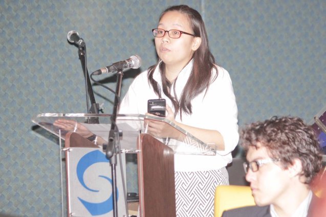 Shang Plaza Mktg Mgr MJ Mendoza; Watch Silent films for free w top musicians providing live soundtrack on the 9th Silent film Festival at Shang Cineplex, Shang Rila Plaza from August 27-30, 2015. Tickets will be given on a first come first served basis so check out schedules and make sure to go early. Photo by Jude Bautista