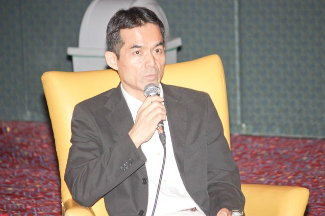 Japan Foundation Dir Shuji Takatori; Watch Silent films for free w top musicians providing live soundtrack on the 9th Silent film Festival at Shang Cineplex, Shang Rila Plaza from August 27-30, 2015. Tickets will be given on a first come first served basis so check out schedules and make sure to go early. Photo by Jude Bautista