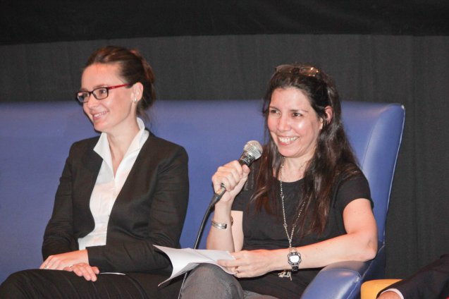 from right: PIA Proj Coordinator Cristina Moricca and Austrian Cultural Attaché Lisbeth Strohmeier; Watch Silent films for free w top musicians providing live soundtrack on the 9th Silent film Festival at Shang Cineplex, Shang Rila Plaza from August 27-30, 2015. Tickets will be given on a first come first served basis so check out schedules and make sure to go early. Photo by Jude Bautista