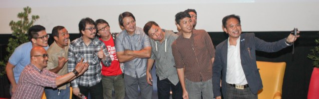 Musicians from right: Martin Macalintal (The Executives Band), Aaron Gonzalez, Jason Conanan (Hidden Nikki), Jett Pangan, Jun Boy Leonor, Rommel Sanchez, Buddy Zabala (The Dawn), Inky De Dios (Kjwan), Ding Dong Fiel (The Ding Dong Fiel Trio) and Patrick Pulumbarit (Razorback–manager). Watch Silent films for free w top musicians providing live soundtrack on the 9th Silent film Festival at Shang Cineplex, Shang Rila Plaza from August 27-30, 2015. Tickets will be given on a first come first served basis so check out schedules and make sure to go early. Photo by Jude Bautista