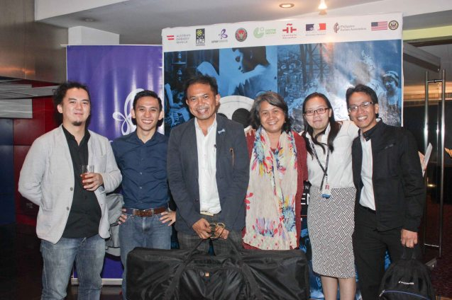 from left: Goethe-Inst Phil Prog Coordinator Shadin Kitma, Japan Foundation Prog Coordinator Cyril Constantino, Martin Macalintal (The Executives Band), Writer Claire Agbayani, Shang Plaza Mktg Mgr MJ Mendoza & Japan Foundation Proj Coordinator Roland Samson. Watch Silent films for free w top musicians providing live soundtrack on the 9th Silent film Festival at Shang Cineplex, Shang Rila Plaza from August 27-30, 2015. Tickets will be given on a first come first served basis so check out schedules and make sure to go early. Photo by Jude Bautista