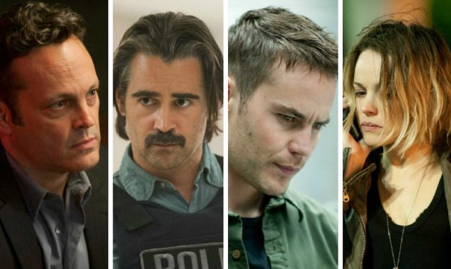 TRUE Detective cast from left: Vince Vaughn, Collin Farrell, Taylor Kitsch and Rachel Mcadams is the latest hit series from HBO.