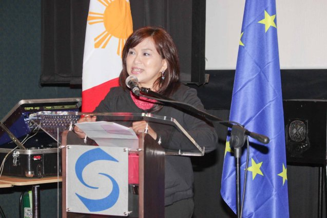 Shang Rila Mktg Div Head Marline Concio Dualan. Watch European films for free in Cine Europa 18 at Shang Cineplex, Shangri La Plaza Mall from September 10-20, 2015. Photo by Jude Bautista