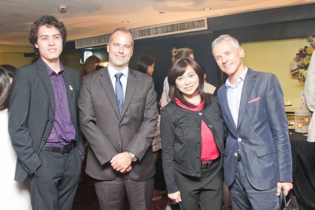 from right: EU Delegation Head of Political & Press Information Lubomir Frebort, Shang Rila Mktg Div Head Marline Concio Dualan, Norwegian Emb First Sec Deputy Head of Mission Kristian Netland, FDCP Proj Dev Officer Quintin Cu-Unjieng. Watch European films for free in Cine Europa 18 at Shang Cineplex, Shangri La Plaza Mall from September 10-20, 2015. Photo by Jude Bautista