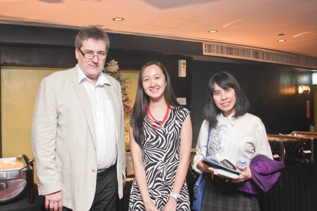 from left: Czech Amb. Jaroslav Olsa Jr, Swiss Emb Sr Proj Officer & Asst to the Head of Mission Diana Chan and PDI Lifestyle's Fran Katigbak. Watch European films for free in Cine Europa 18 at Shang Cineplex, Shangri La Plaza Mall from September 10-20, 2015. Photo by Jude Bautista