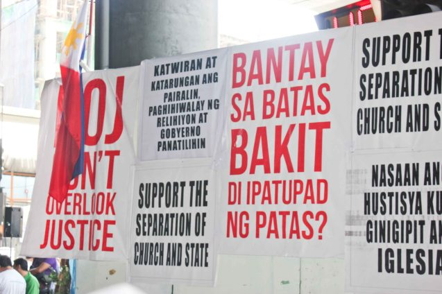 The protests mantra didn't make any sense to a country and government that has yet to do anything or conclude anything from an investigation that has NOT started- Aug 30, 2015 at EDSA corner Shaw Boulevard. Photo by Jude Bautista