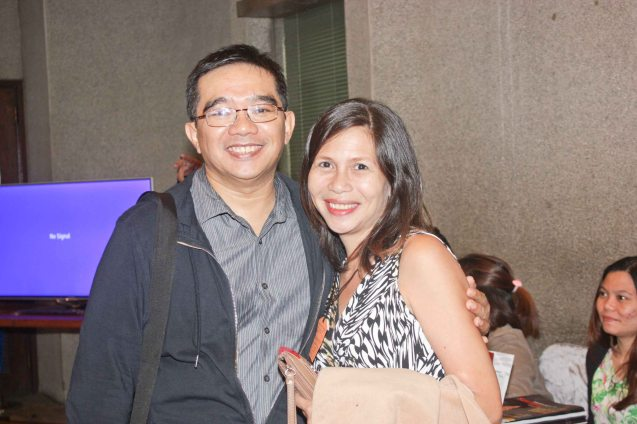 Librettist Dennis Marasigan with actress Mailes Kanapi. Jesse Lucas FULL RANGE is part of the TRIPLE THREATS series The composers at CCP Tanghalang Aurelio Tolentino last August 20, 2015. Photo by Jude Bautista