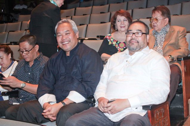 (in black) Cinemalaya Pres. Chris Millado enjoyed Jesse Lucas' FULL RANGE at CCP Tanghalang Aurelio Tolentino last August 20, 2015. Photo by Jude Bautista