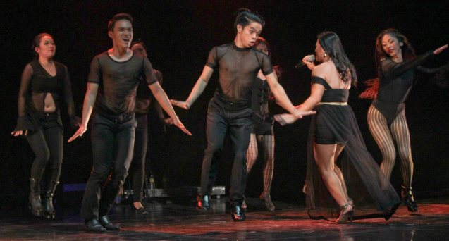 Natasha Cabrera w VCCPA dancers; Jesse Lucas FULL RANGE is part of the TRIPLE THREATS series The composers at CCP Tanghalang Aurelio Tolentino last August 20, 2015. Photo by Jude Bautista