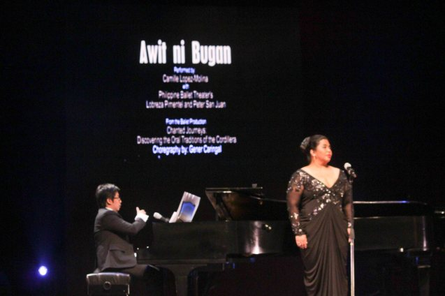 Camille Lopez Molina performed an enthralling vocal performance in AWIT NI BUGAN. Jesse Lucas FULL RANGE is part of the TRIPLE THREATS series-the composers at CCP Tanghalang Aurelio Tolentino last August 20, 2015. Photo by Jude Bautista