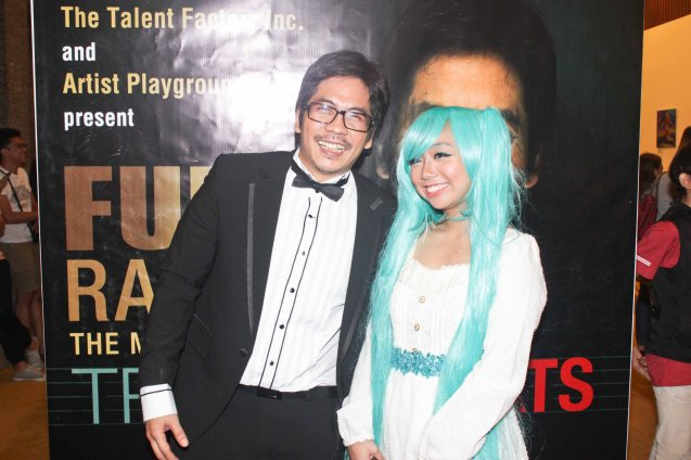 Jesse Lucas and CMKC aka Christine Carbonell; Jesse Lucas FULL RANGE is part of the TRIPLE THREATS series-the composers at CCP Tanghalang Aurelio Tolentino last August 20, 2015. Photo by Jude Bautista