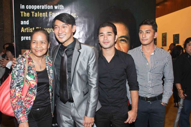 from left: Alma Cruz Miclat, Roeder Camañag, Junjun Quintana and Sandino Martin. Jesse Lucas FULL RANGE is part of the TRIPLE THREATS series-the composers at CCP Tanghalang Aurelio Tolentino last August 20, 2015. Photo by Jude Bautista