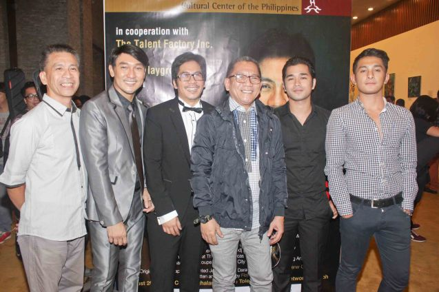 from left: Ibarra Mateo, Roeder Camañag, Jesse Lucas, Toots Tolentino, Junjun Quintana and Sandino Martin. Jesse Lucas FULL RANGE is part of the TRIPLE THREATS series The composers at CCP Tanghalang Aurelio Tolentino last August 20, 2015. Photo by Jude Bautista