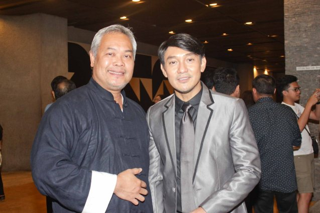 from left: Cinemalaya Pres. Chris Millado & Roeder Camañag. Jesse Lucas FULL RANGE is part of the TRIPLE THREATS series-the composers at CCP Tanghalang Aurelio Tolentino last August 20, 2015. Photo by Jude Bautista
