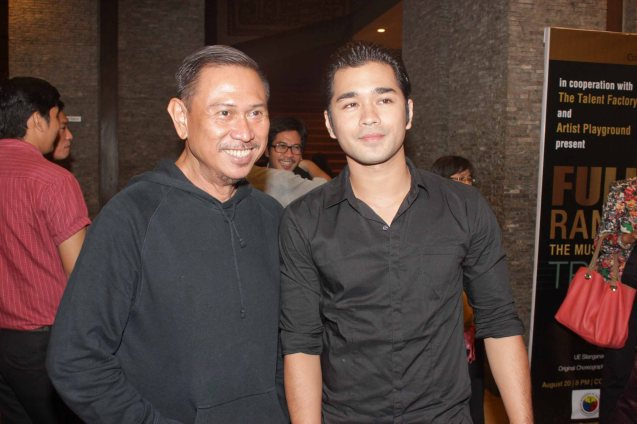 from left: Theater Patron & fashion auteur Frederick Peralta with Jun jun Quintana. Jesse Lucas FULL RANGE is part of the TRIPLE THREATS series The composers at CCP Tanghalang Aurelio Tolentino last August 20, 2015. Photo by Jude Bautista