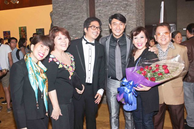 Jesse Lucas, Roeder Camañag w Liesl Batucan and family. Jesse Lucas FULL RANGE is part of the TRIPLE THREATS series-the composers at CCP Tanghalang Aurelio Tolentino last August 20, 2015. Photo by Jude Bautista