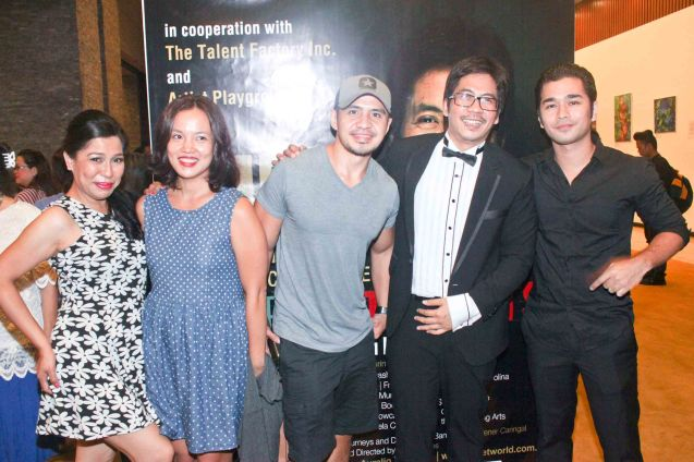 from left: Tex Ordoñez, Che Ramos Cosio, Chrome Cosio, Jesse Lucas and Jun jun Quintana. Jesse Lucas FULL RANGE is part of the TRIPLE THREATS series The composers at CCP Tanghalang Aurelio Tolentino last August 20, 2015. Photo by Jude Bautista