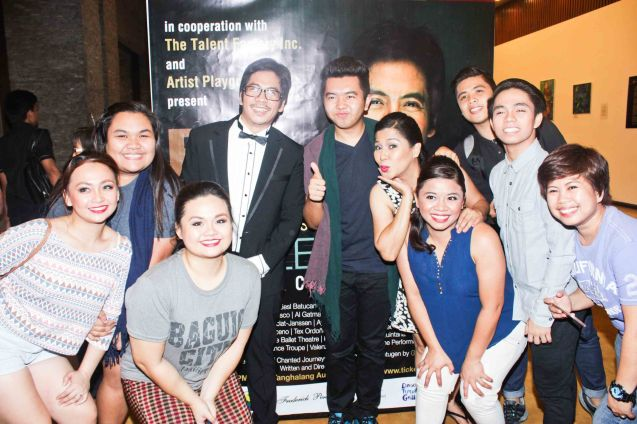 VCCPA from left: Nikki Herrera, Joyce Tejero, Angela Herrera, Jesse Lucas Cyril Balderama, Tex Ordoñez, Donalyn Balbag, Levin Carlos, Christian Bautista and Raiza Dimaculangan. Jesse Lucas FULL RANGE is part of the TRIPLE THREATS series The composers at CCP Tanghalang Aurelio Tolentino last August 20, 2015. Photo by Jude Bautista